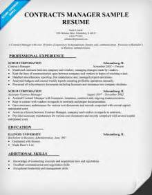 manager resume template contracts manager resume template images frompo