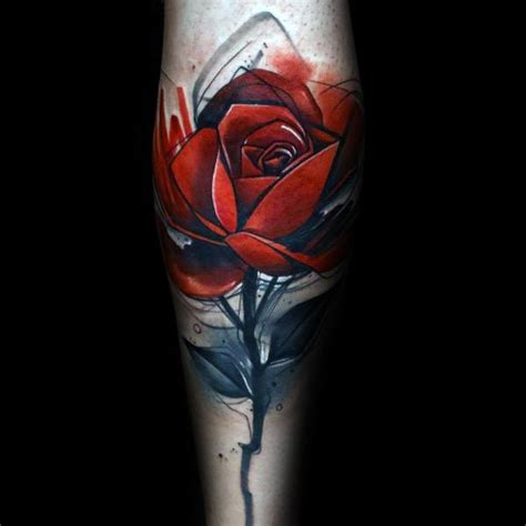 Rose Themed Tattoo | 50 badass rose tattoos for men flower design ideas