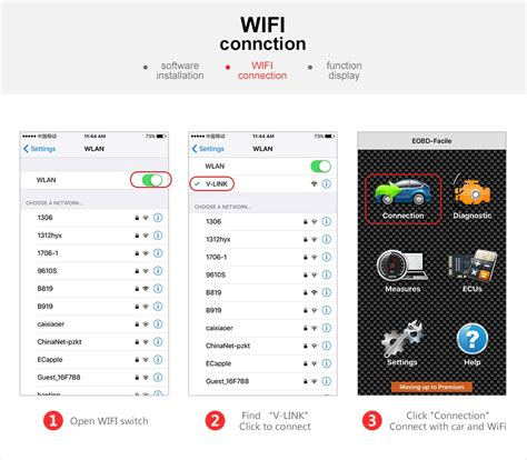Wifi Connection vgate icar2 wifi elm327 obd2 codereader for android ios pc