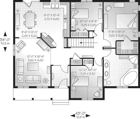 Free Kitchen Island Plans One Story Floor Plans For Young Families