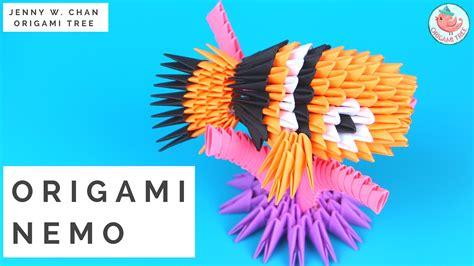 3d Origami Nemo Fish Ikan Nemo origami 3d nemo modular origami with triangle pieces