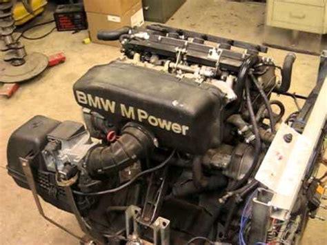 bmw engine stand bmw e30 s14 engine running on stand