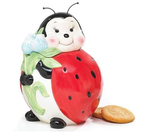Ladybug Kitchen Decor by Adorable Ladybug Cookie Jar Food Storage For Kitchen Decor