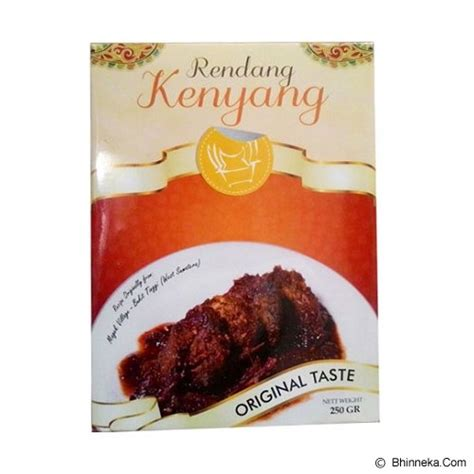 Daging Rendang Beku jual rendang kenyang original taste 250gr murah bhinneka