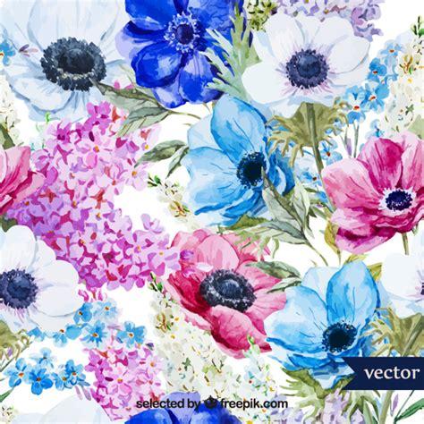 immagini gratis fiori di primavera fiori di primavera acquerello scaricare vettori gratis