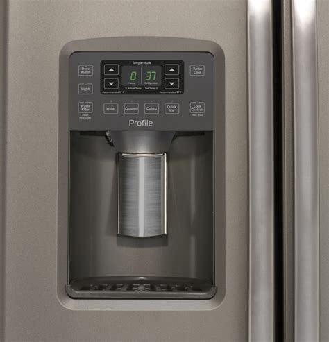 Dispenser Sharp Cool ge pzs22mmkes 36 inch side by side refrigerator with turbo cool and water dispenser