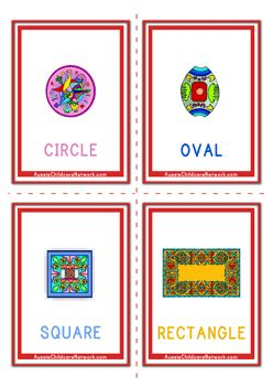 free shape flashcards for kids totcards shapes flashcards design aussie childcare network