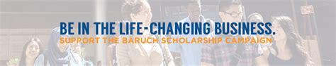 Baruch College Letterhead Caign Scholarships Baruch College Fund