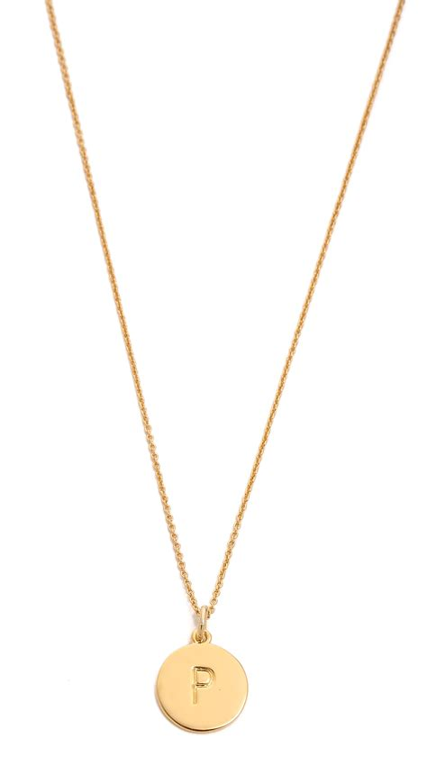 kate spade letter pendant necklace in gold p lyst