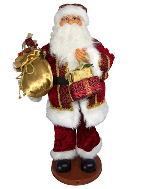 www christmaswarehouse au singing santa with sack musical animation 90cm