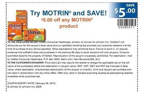 printable motrin coupon canada