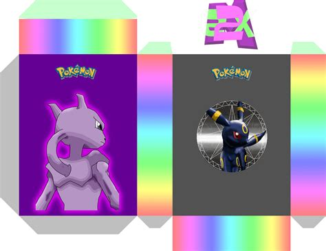 60 card deck box template deck box 60 umbreon by mewtwo ex