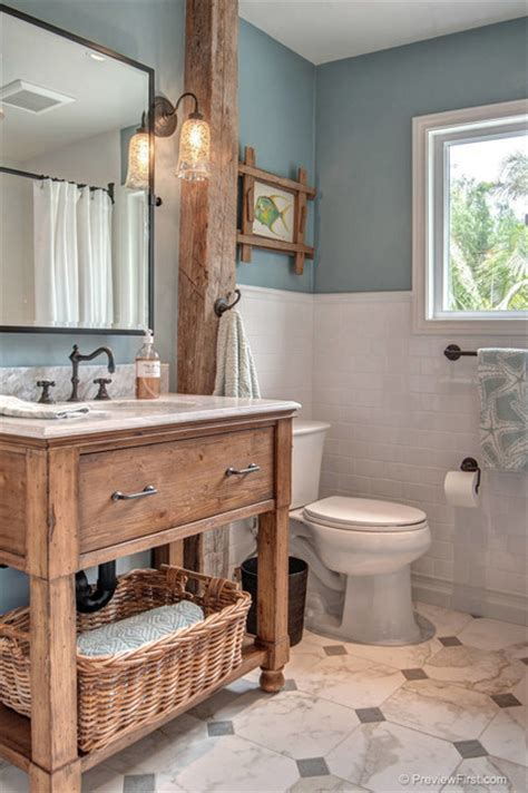Bathroom Ideas White Tile Beachy Casual Bathroom Beach Style Bathroom San