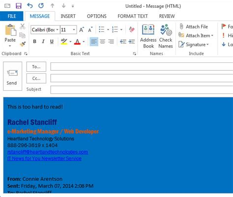 outlook 2013 background color outlook 2013 background color change font size in