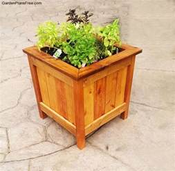 diy cedar planter box free garden plans how to build