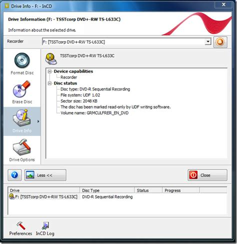 format dvd nero easy way to format erase cd dvd blu ray with incd windows 7