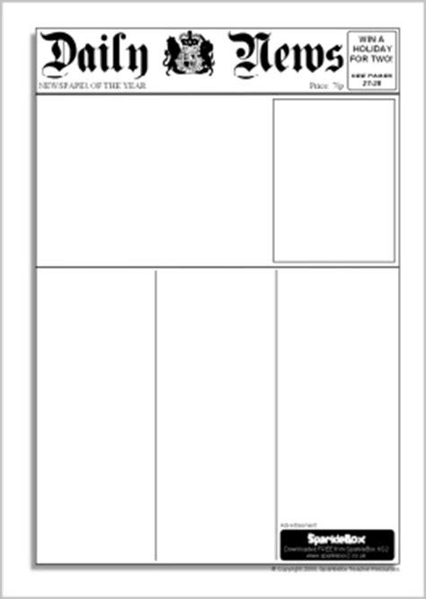 editable newspaper templates (sb6536) sparklebox