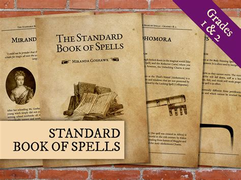 The Book Of List 4 harry potter standard book of spells printable standard book
