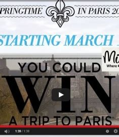 Paris Sweepstakes - michaels spring time in paris sweepstakes sweeps maniac