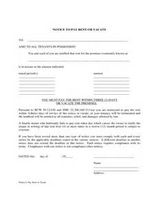 notice to pay rent or quit template west virginia notice to pay rent or vacate free