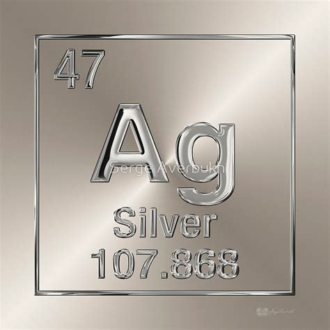 Silver Element quot periodic table of elements silver ag quot stickers by