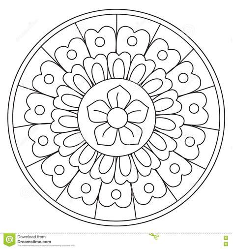 round mandala coloring pages coloring beauty floral mandala stock vector image 72962379