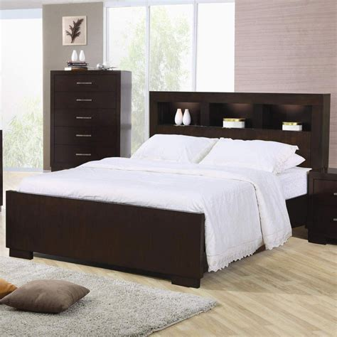 Bed With Shelf Headboard modern headboard with storage home design