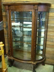 Curio Cabinet Repair Wonderful Antique Curio Cabinet Curved Glass