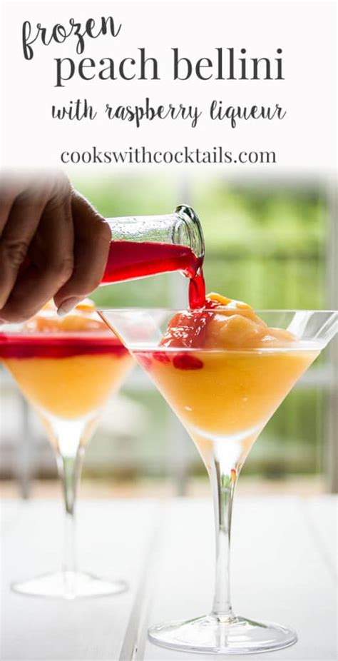 Frozen Peach Bellini Recipe With Raspberry Liqueur Cooks