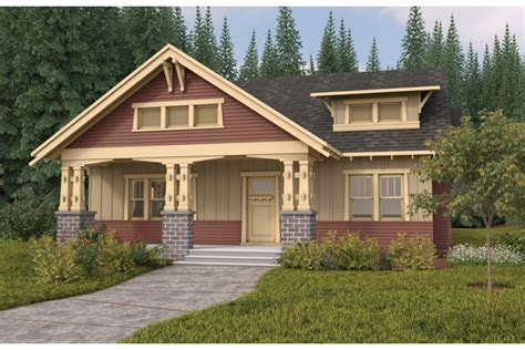 One Story Craftsman Bungalow House Plans by Single Story Bungalow With Open Floor Plan Hwbdo67247