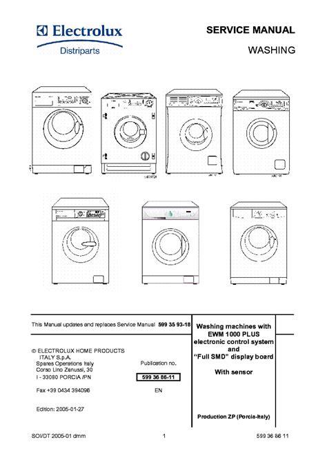 Electrolux W3400h Service Manual
