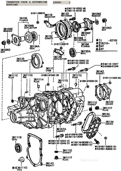 Fj40 Fj55 Fj60 Fj62 Fj80 Transfer Case Illustration Diagram