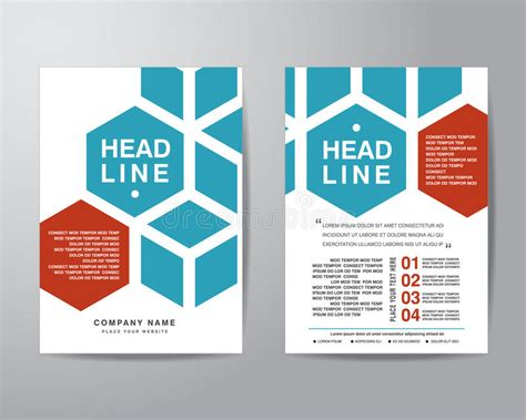 a4 layout design free hexagonal brochure flyer design layout template in a4 size