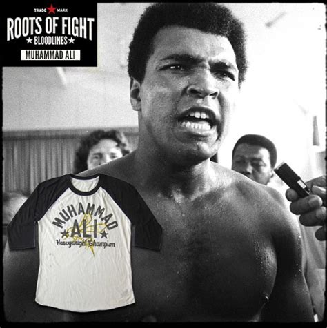 Muhammad Ali Back To His Roots by Roots Of Fight Ali Bee Raglan Shirt