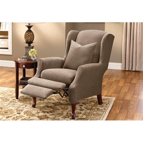 wingback sofa slipcover slipcover wing chair recliner chair design ideas