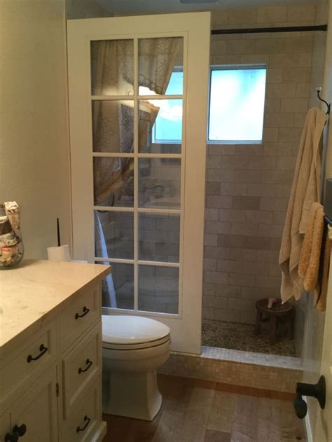 upcycled french door walk  shower courtesy