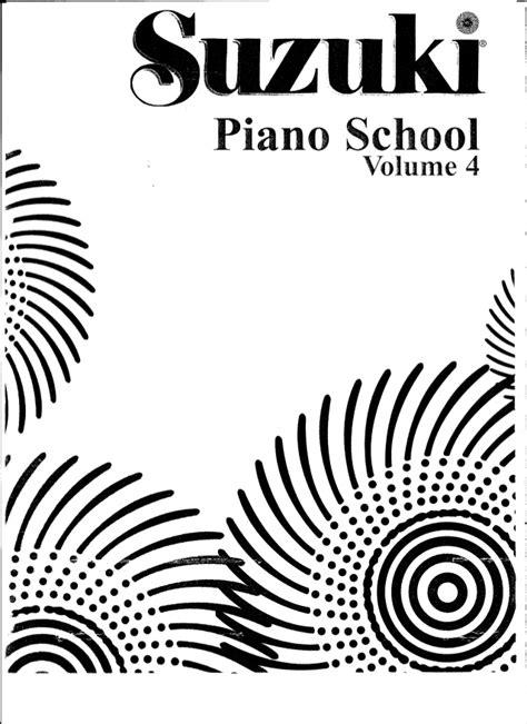 suzuki piano school vol 0739051687 metodo suzuki piano volume 4