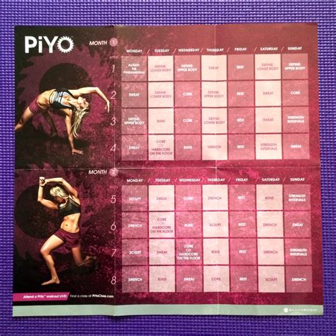 piyo lower workout calories burned workout s