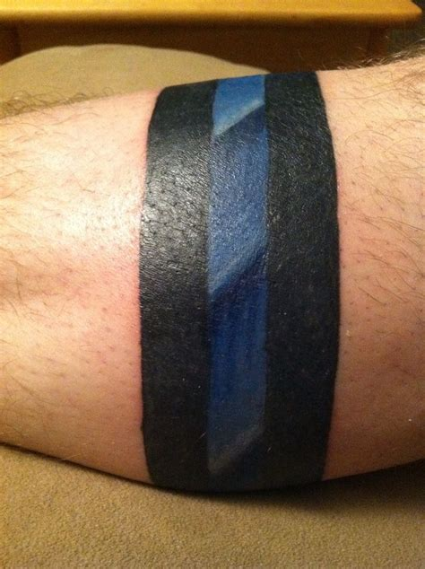 thin tattoos wrist solid line tattoos thin blue line ideas