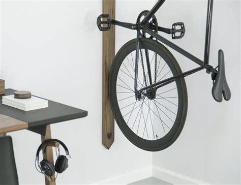 Vertical Bike Racks by Black Walnut Vertical Bike Rack 187 Gadget Flow