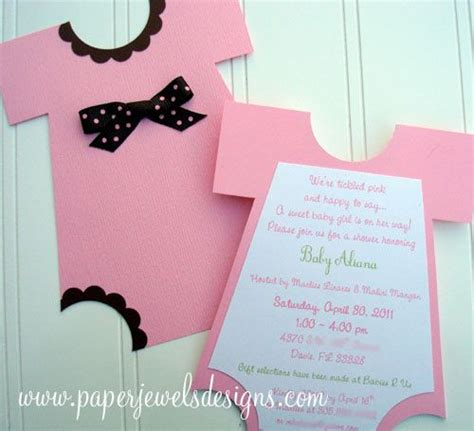 Handmade Baby Shower Invitations Ideas - diy baby shower invitations funsie onesie quot invitations