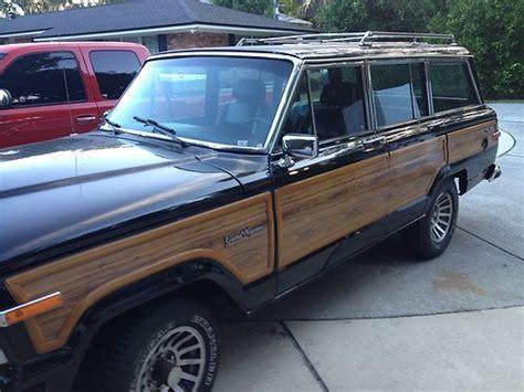 wood panel jeep cherokee buy used 1991 black jeep grand cherokee with wood paneling