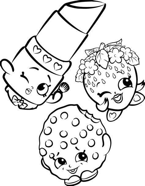 Shopkins Printable Coloring Pages