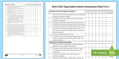 ks1 maths assessment sheets end of ks1 expectations interim assessment sheet maths