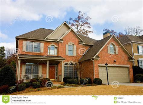 brick house with red door brick house red door in winter royalty free stock