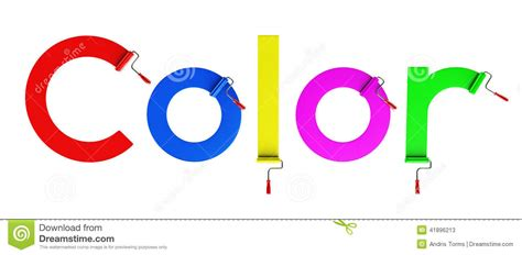 what time is world of color roller brush and word color 3d stock illustration image