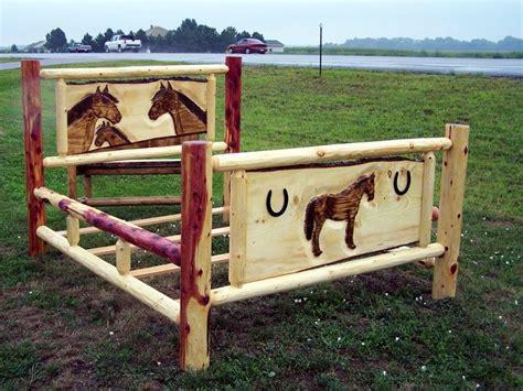 Cheap Log Bed Frames Handmade Cedar Log Bed By Fbt Sawmill Custom Wood Furniture Custommade