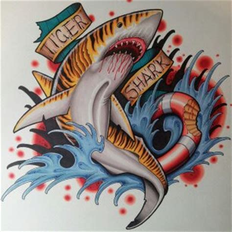 tiger shark tattoo designs tiger shark by kapitoliytattoo on deviantart
