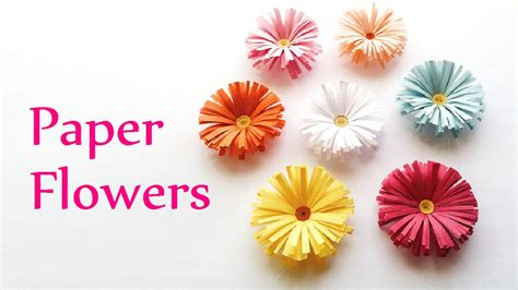 paper flowers craft diy crafts paper flowers daisies innova crafts doovi