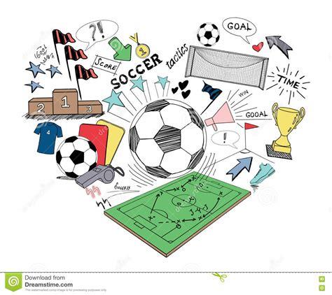 doodle soccer soccer doodle stock illustration image 72642099